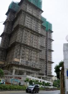 香港の建設中ビル
