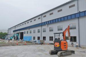 第一工場の増築工事